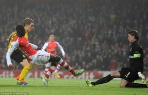 Sanogo scores Vs Dortmund
