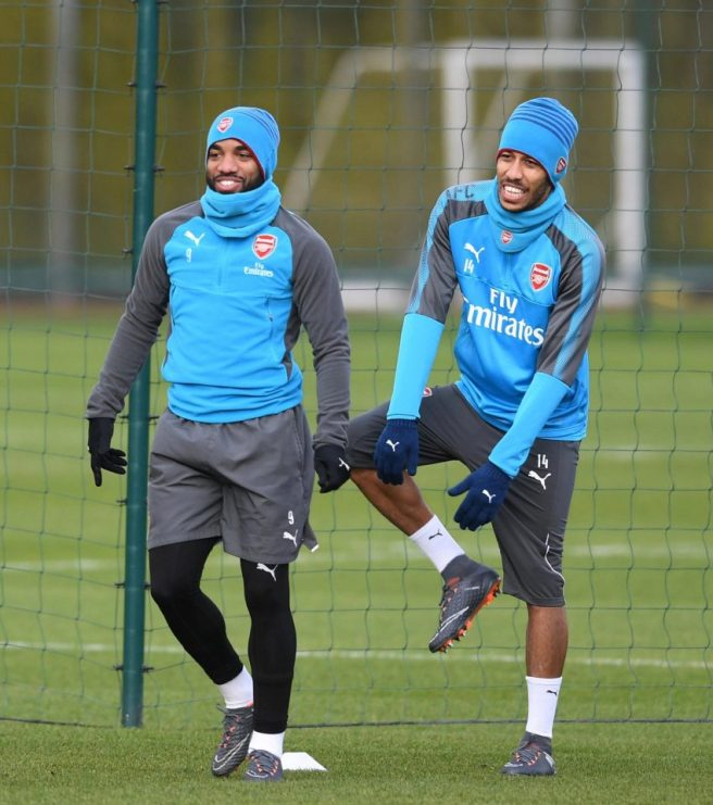 Aubameyang and Lacazette as a partnership
