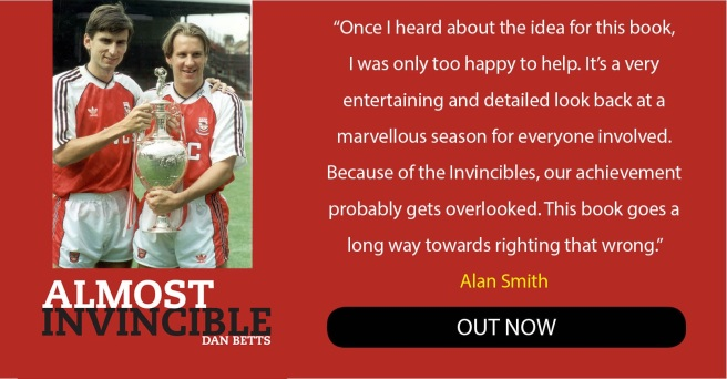 Arsenal legend Alan smith endorses my book!